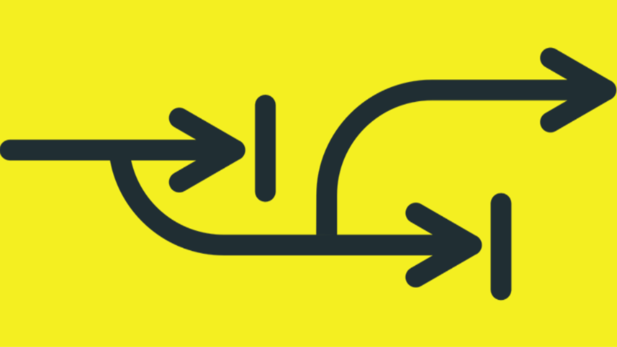 Arrows showing a change in direction